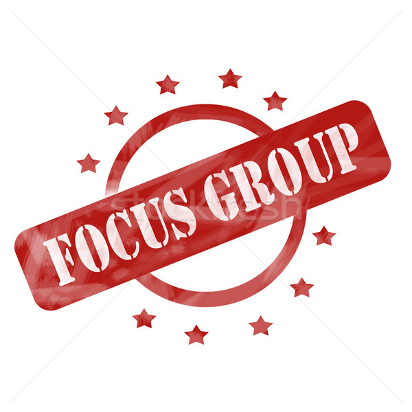 Rouge patiné groupe de discussion tampon cercle étoiles Photo stock © mybaitshop
