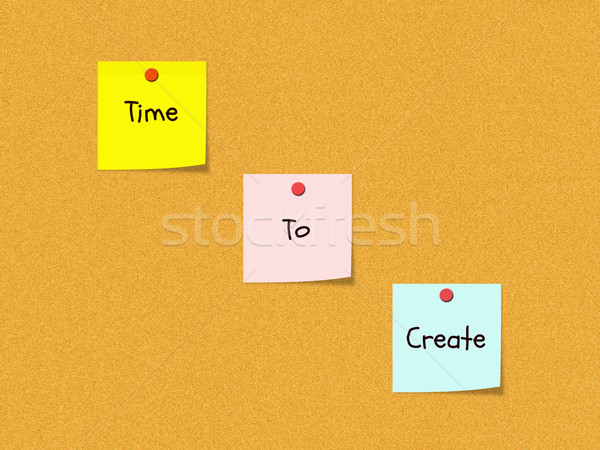 Tempo boletim conselho palavras colorido Foto stock © mybaitshop
