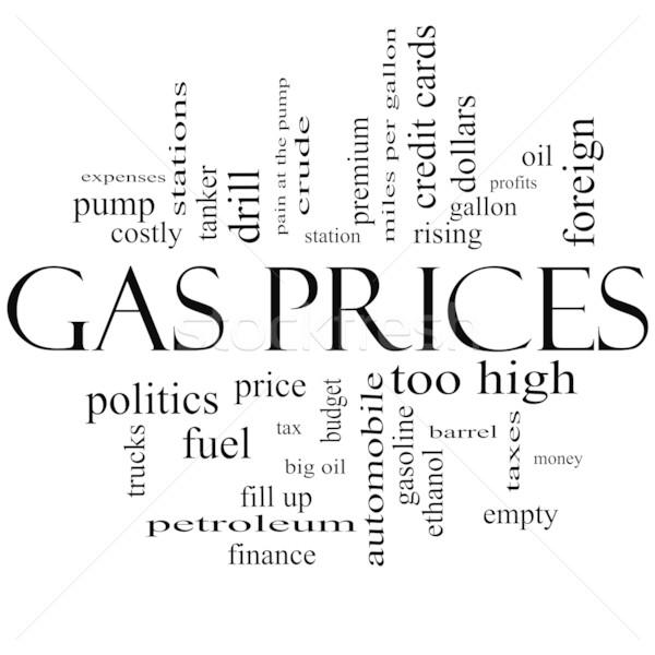 газ цены слово облако черно белые автомобиль Сток-фото © mybaitshop