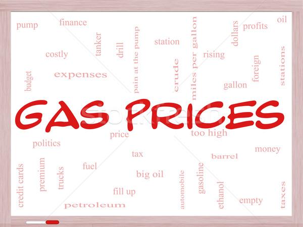 Gas precios nube de palabras automóvil Foto stock © mybaitshop