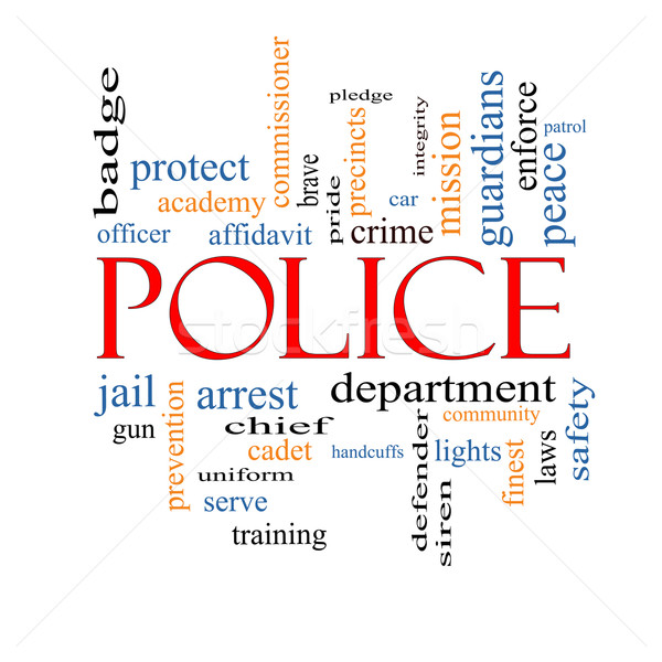 Police Word Cloud Concept Stock photo © mybaitshop