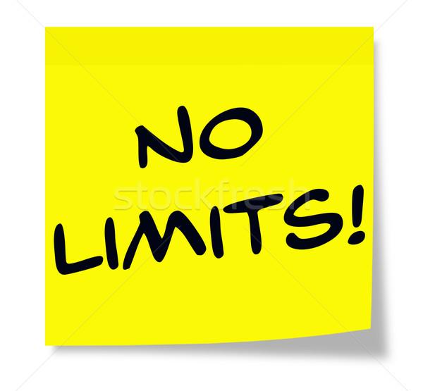 No Limits Sticky Note Stock photo © mybaitshop