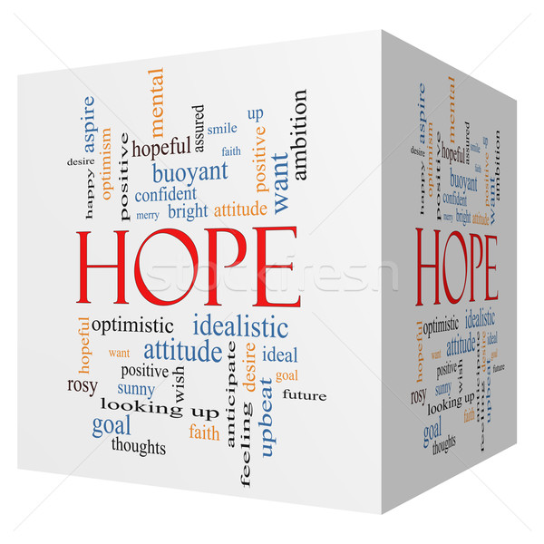 Hope 3D cube Word Cloud Concept Stock photo © mybaitshop