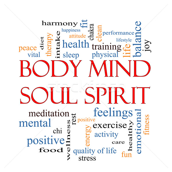 Body Mind Soul Spirit Word Cloud Concept Stock photo © mybaitshop