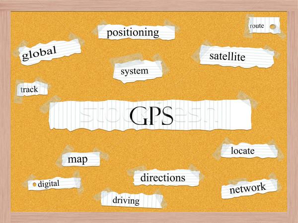 GPS mot magnifique mondial satellite route Photo stock © mybaitshop