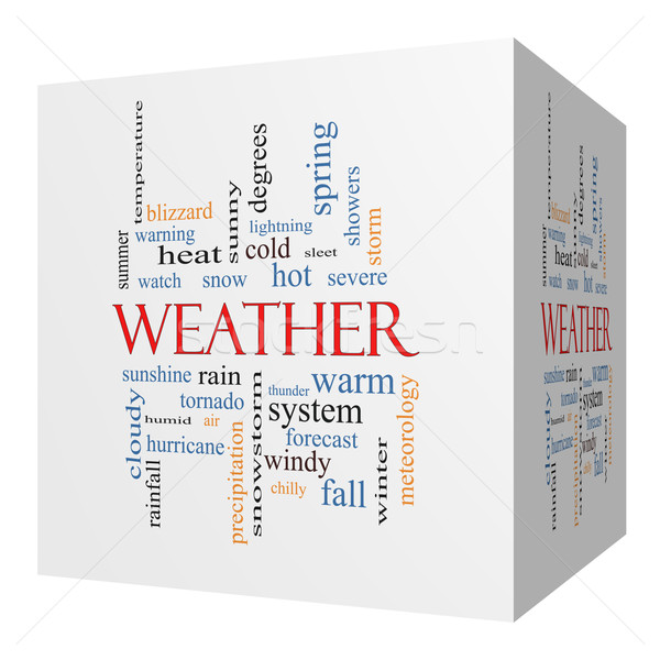 Weather 3D cube Word Cloud Concept Stock photo © mybaitshop