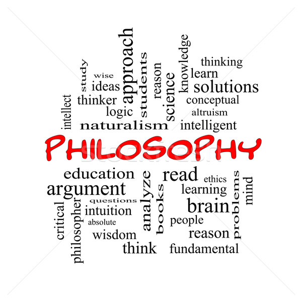 Philosophy Word Cloud Concept in red caps Stock photo © mybaitshop