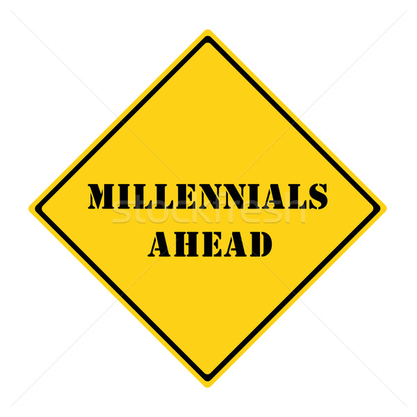 Millennials Ahead Sign Stock photo © mybaitshop