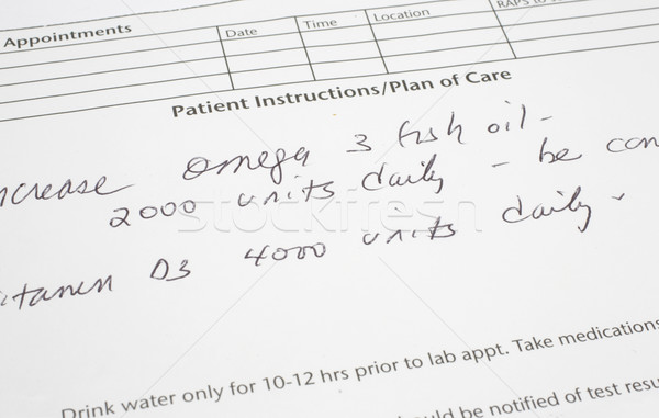 Doctor Says increase Omega 3 fish oil Stock photo © mybaitshop