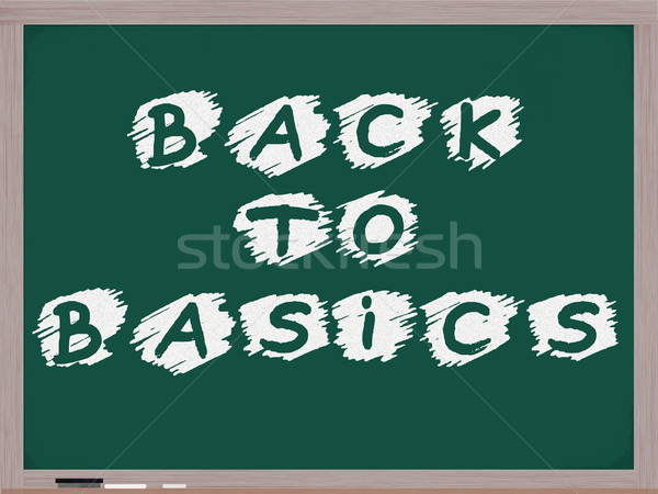 Back to Basics Chalkboard Stock photo © mybaitshop