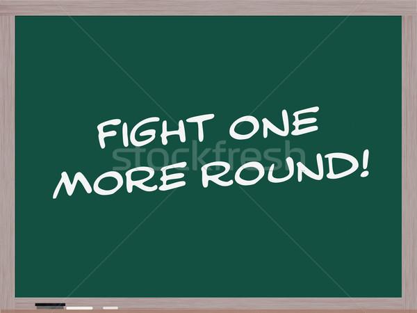 Kavga bir daha fazla tahta yazılı beyaz Stok fotoğraf © mybaitshop
