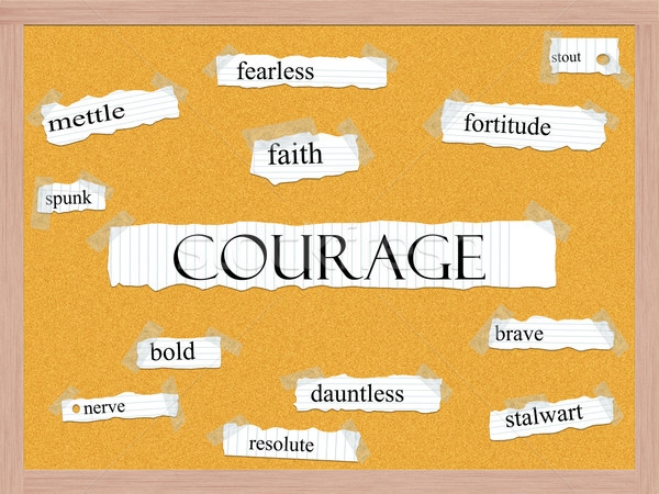 Courage Corkboard Word Concept Stock photo © mybaitshop