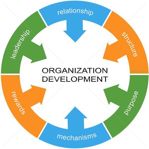 Organização desenvolvimento palavra círculo relação Foto stock © mybaitshop