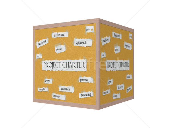 Project Charter 3D Corkboard Word Concept Stock photo © mybaitshop