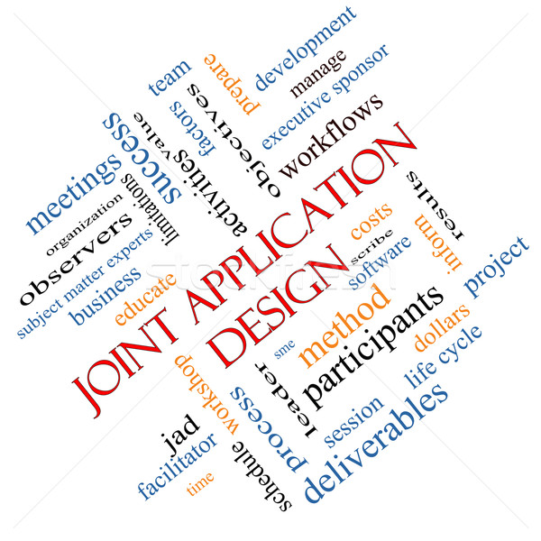 Joint Application Word Cloud Concept angled Stock photo © mybaitshop