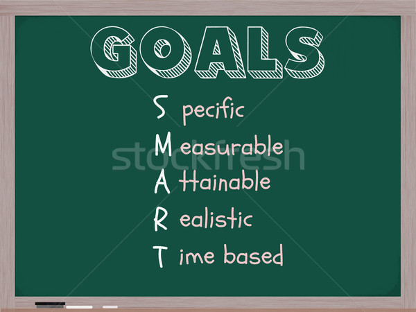 Smarter Goals Blackboard Stock photo © mybaitshop