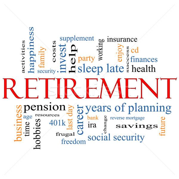 Retraite nuage de mots magnifique sécurité pension économies Photo stock © mybaitshop