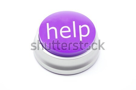 Purple Help Button Stock photo © mybaitshop