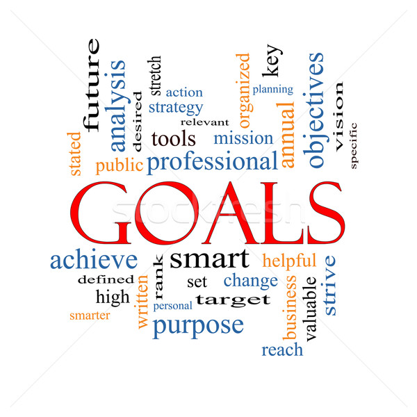 Goals Word Cloud Concept Stock photo © mybaitshop