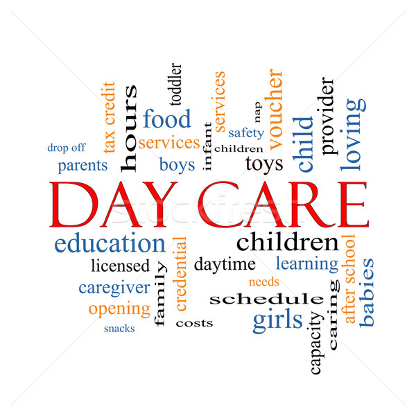 Day Care Word Cloud Concept Stock photo © mybaitshop