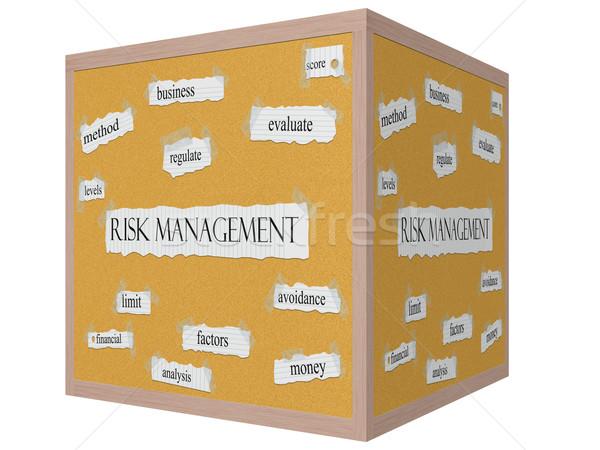 Risk Management 3D Cube Corkboard Word Concept Stock photo © mybaitshop
