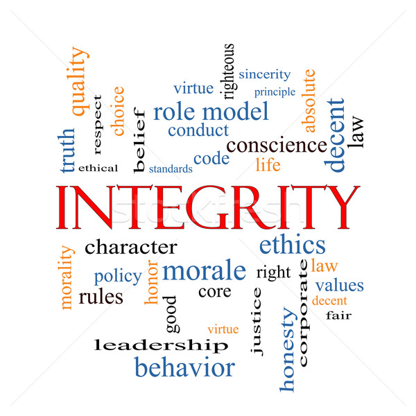 Integrity Word Cloud Concept Stock photo © mybaitshop