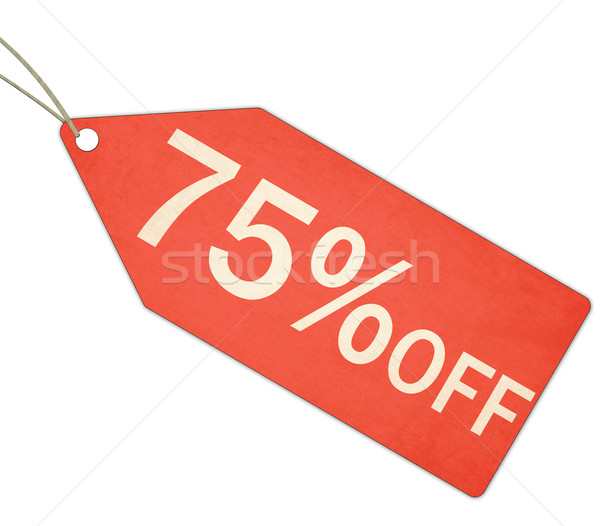 Seventy Five Percent Off Sale Red Tag and String Stock photo © mybaitshop