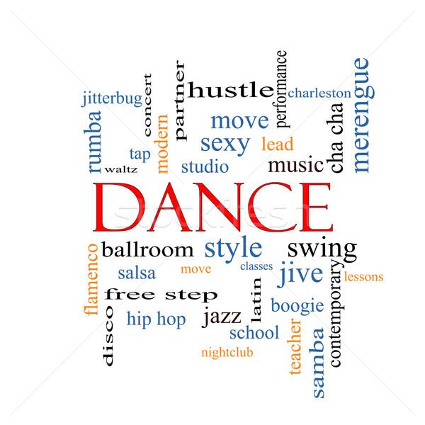 Dans kelime bulutu muhteşem müzik balo salonu daha fazla Stok fotoğraf © mybaitshop