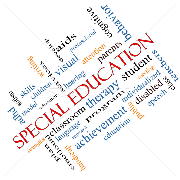 Special Education Word Cloud Concept Angled Stock photo © mybaitshop