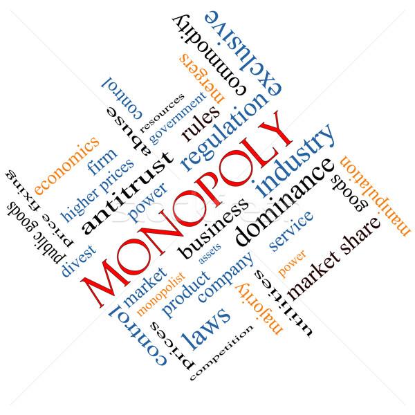 Monopole nuage de mots magnifique affaires industrie dominance Photo stock © mybaitshop