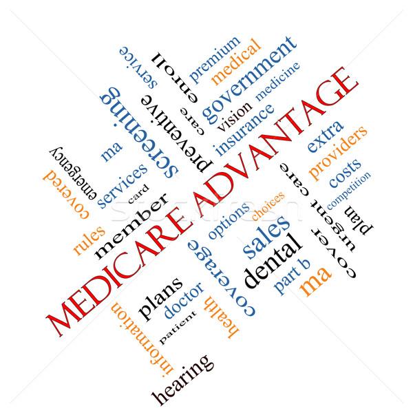 Medicare Advantage Word Cloud Concept angled Stock photo © mybaitshop