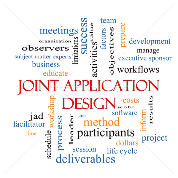 Joint Application Word Cloud Concept  Stock photo © mybaitshop