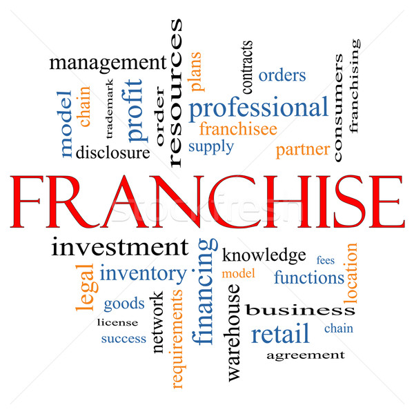 Franchise Word Cloud Concept Stock photo © mybaitshop