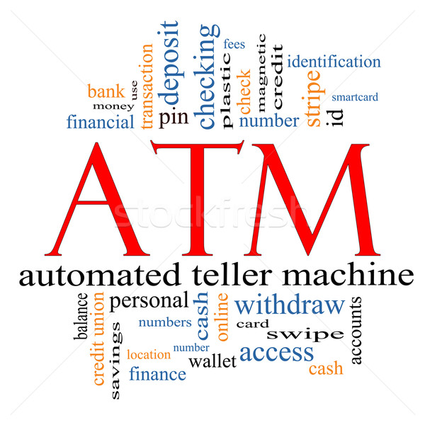 ATM Word Cloud Concept Stock photo © mybaitshop