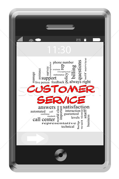 Servicio al cliente nube de palabras pantalla táctil teléfono centro de llamadas Foto stock © mybaitshop