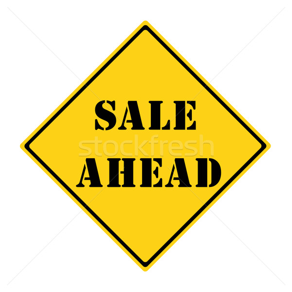 Sale Ahead Sign Stock photo © mybaitshop