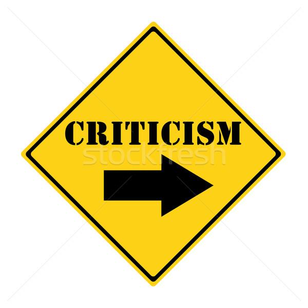 Criticism that way Sign Stock photo © mybaitshop