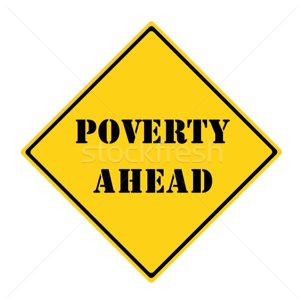нищеты впереди знак желтый черный Diamond Сток-фото © mybaitshop