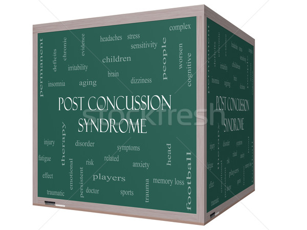 Post syndroom woordwolk 3D Blackboard groot Stockfoto © mybaitshop