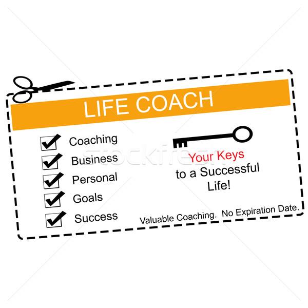 Zdjęcia stock: życia · trenerem · pomarańczowy · biały