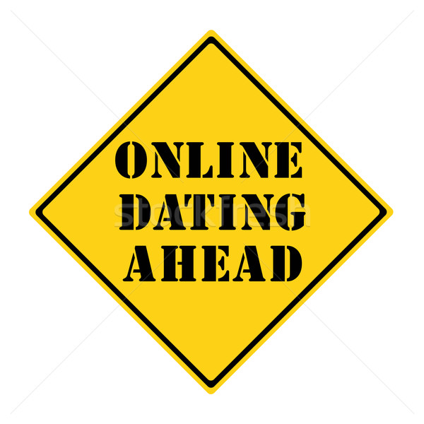 Online Dating Ahead Sign Stock photo © mybaitshop