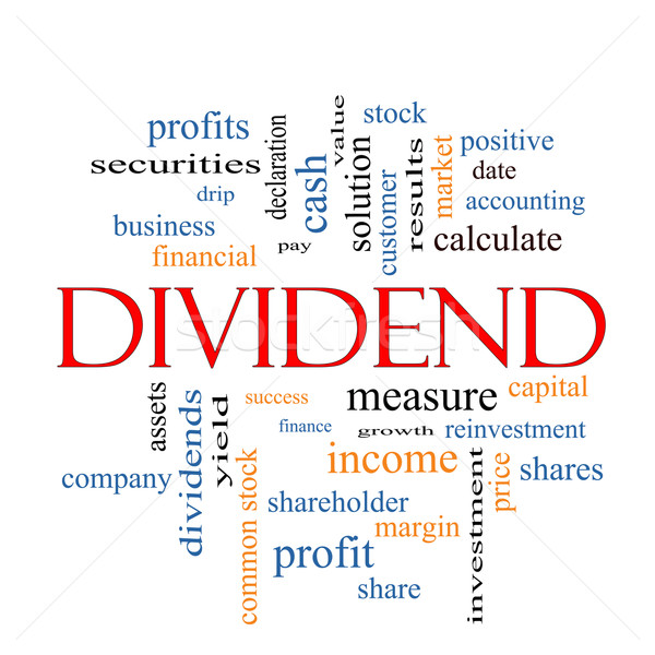 Dividend Word Cloud Concept  Stock photo © mybaitshop