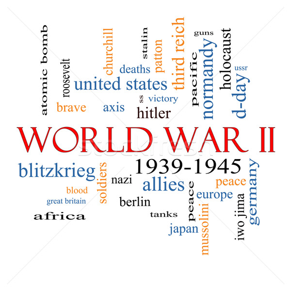 World War II Word Cloud Concept Stock photo © mybaitshop