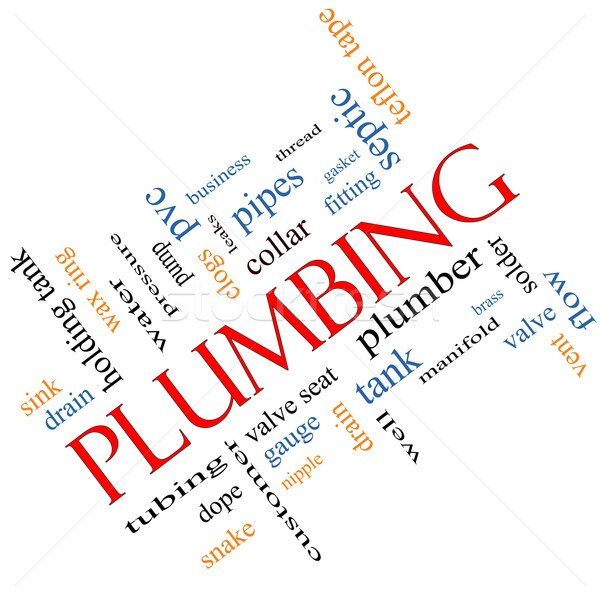 Plumbing Word Cloud Concept angled Stock photo © mybaitshop