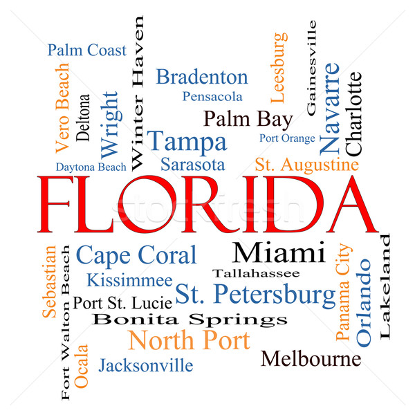 Florida State Word Cloud Concept Stock photo © mybaitshop