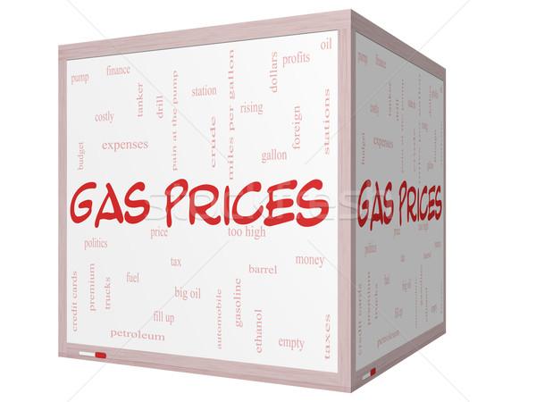 газ цены слово облако 3D куб Сток-фото © mybaitshop