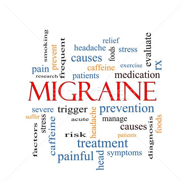 Migraine Word Cloud Concept Stock photo © mybaitshop