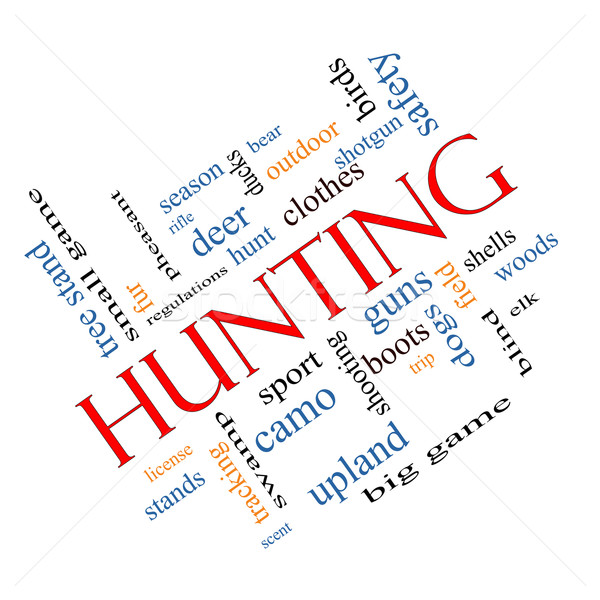 Hunting Word Cloud Concept angled Stock photo © mybaitshop