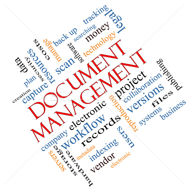 Document Management Word Cloud Concept Angled Stock photo © mybaitshop