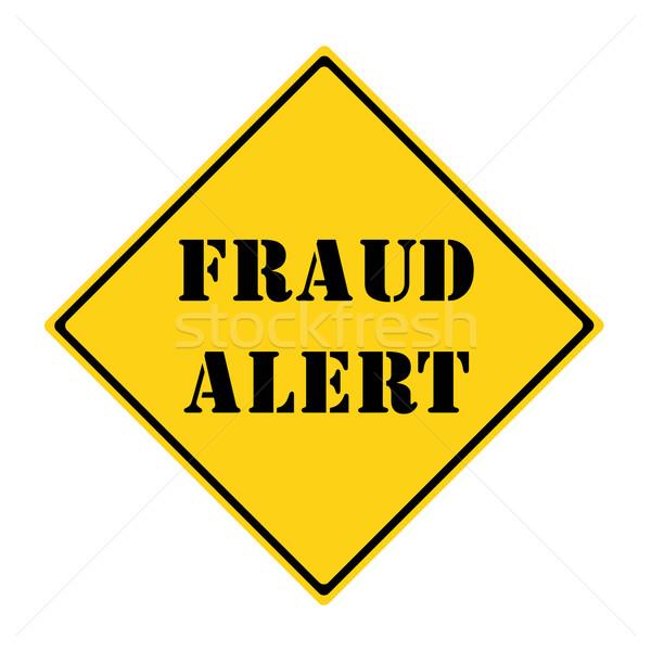 Fraude alertar assinar amarelo preto diamante Foto stock © mybaitshop